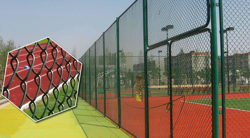 Portable Chain Link Mesh Netting For Tennis And Basketball